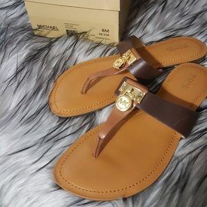 Michael kors leather sandals BRAND NEW